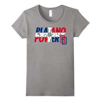 DOMINICAN REPUBLIC BASEBALL TEAM SUPPORT SHIRT PLATANO POWER