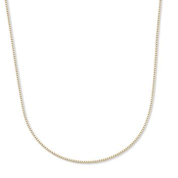 14k Yellow Gold Box-Link Chain Necklace 18""