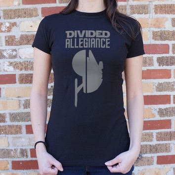 Divided Allegiance [Star Trek / Star Wars Parody] Women's T-Shirt