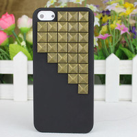 Black Hard Case Cover With Bronze Stud for Apple iPhone5 Case, iPhone 5 Cover,iPhone 5 Case, iPhone 5g