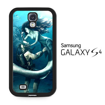 Diver and The Mermaid Samsung Galaxy S4 Case