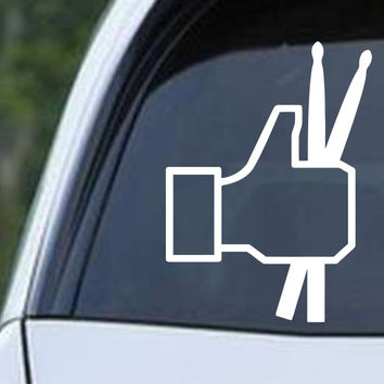 Facebook Thumbs Up Drums Die Cut Vinyl Decal Sticker