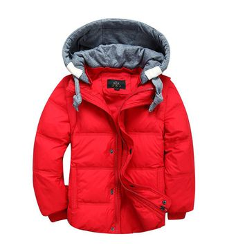Children Winter Jackets for Boys Baby Girls Parka Coat Kids Duck Down Coats Warm Hooded Toddler Outerwear Overcoat DQ181