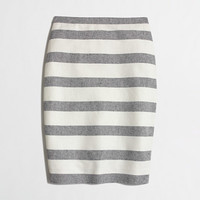 FACTORY STRIPED PENCIL SKIRT IN BASKETWEAVE