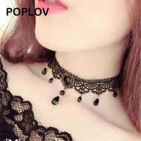 Black Velvet Vintage Choker Necklace Women Chocker Pendant Bijoux Female Collier Jewelry Collar Gothic Mujer Chain Jewellery