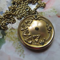 Antique Art Nouveau Paste Locket Necklace