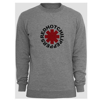 red hot chili peppers logo sweater Gray Sweatshirt Crewneck Men or Women for Unisex Size with variant colour