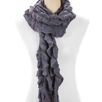 Women's One Size Ruffle Scarf