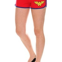 DC Comics Wonder Woman Logo Booty Shorts