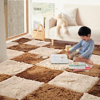35*35CM Rugs Living Room Bedroom Children Kids Soft Patchwork Carpet Magic Jigsaw Splice Puzzle Climbing Baby Mat 12pcs A Lot