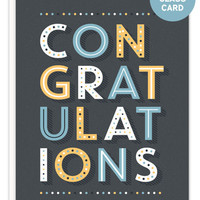 Congratulations Shot Class Bottle Hanger Card