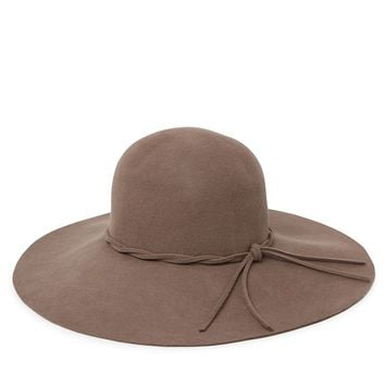 With Love From CA Floppy Brim Panama Hat - Womens Hat - Brown - One