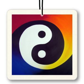 Balance - Air Freshener of Rainbow Yin Yang Acrylic Paint Fine Art