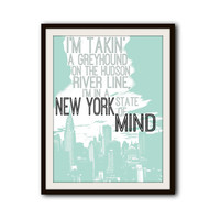 Billy Joel Classic Rock Lyrics New York Typography Print