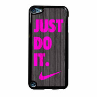 Nike Just Do It Wood Colored Darkwood Wooden Pink iPod Touch 5th Generation Case