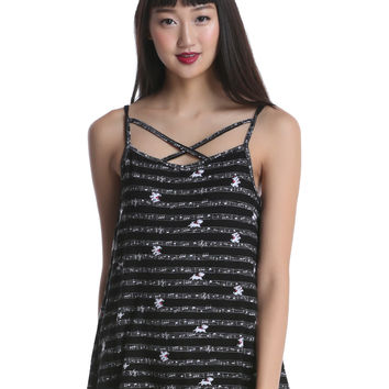 Disney The Aristocats Marie Music Staff Strappy Tank Top
