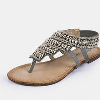 Metal Bead Sandals for Women
