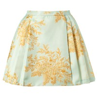 Light Blue Valiant Brocade Skirt | Zimmermann | Avenue32