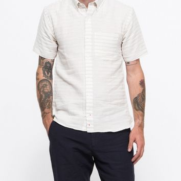 Apolis / Linen Stripe S/S Button Down