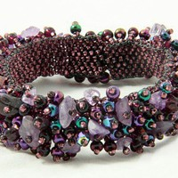 Capullo Bracelet - Amethyst Magnetic | shkaala - Jewelry on ArtFire