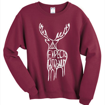 Expecto Patronum Sweatshirt Harry Potter Fan Jumper Tumblr Clothing Pinterest Unisex