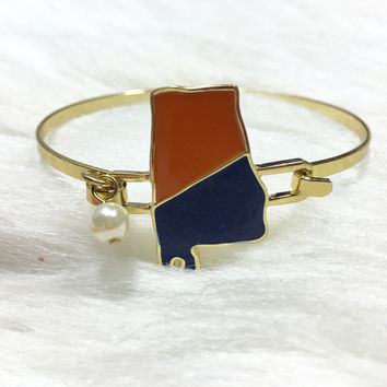 ALABAMA TEAM PRIDE BRACELET ORANGE/ BLUE