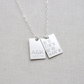 Small Sterling Silver ID TAG - Customized Engrave silver tabs