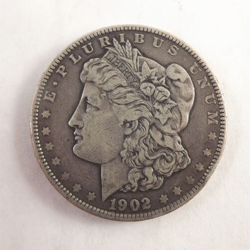 1902 Morgan Silver Dollar Collectible Coin, 1902 P One Dollar Coin Philadelphia Mint, Vintage Coin