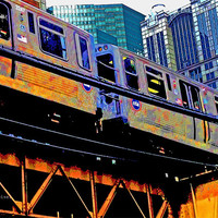 "Chicago transit 'EL' art print - Downtown Chicago, Illinois - Industrial but colorful - urban photography - 8.5""x11"""