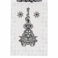 Mini Henna Temporary Tattoo - Black