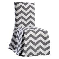Chevron Dining Room Chair Slipcover