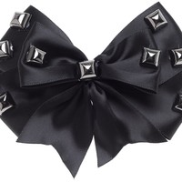 LUCKY 13 DARK SIDE HAIR BOW BLACK