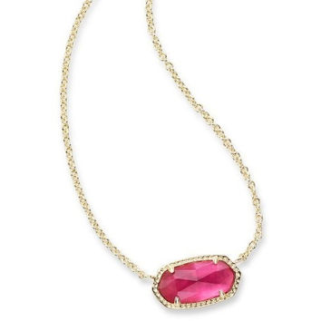 Kendra Scott: Elisa Gold Pendant Necklace in Berry Illusion