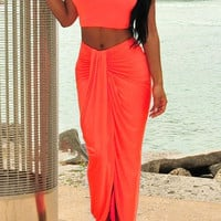 Sleeveless Tank Top with Maxi Skirt Twinset