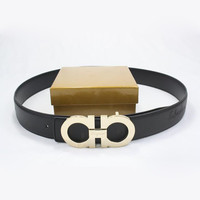 Perfect Ferragamo Men Woman Fashion Smooth Buckle Belt Leather Belt