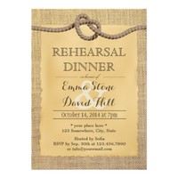 Rustic Burlap Tying the Knot Rehearsal Dinner