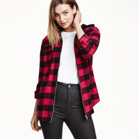 H&M Hooded Flannel Shirt $29.99