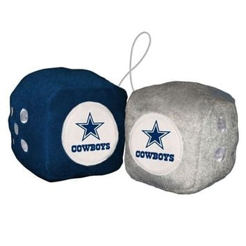 ONETOW NFL Dallas Cowboys Fuzzy Dice