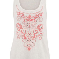 Lightweight Puff Paint Tank With Studs - Calypso Coral