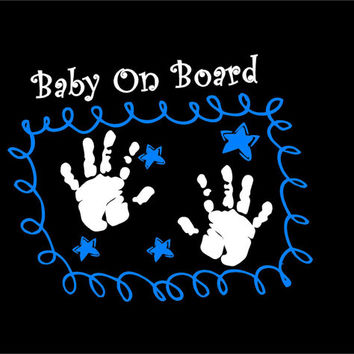 Baby on Board Decal Car decal Auto decal Vehicle decal Window decal Sticker