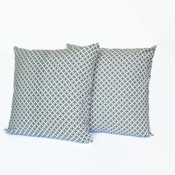 Set of 2 Black and White Geometric PIllow Cover // Black and White Throw Pillow // Geometric Couch Pillow // Black and White Home Decor