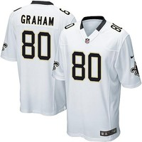 Nike New Orleans Saints Jimmy Graham Game White Jersey