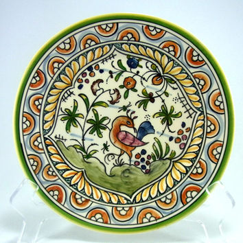 Vintage Nazari Hand Painted Portugal Decorative Plate for Hanging Vintage Home Decor