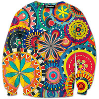 Tribal Flowers Crewneck