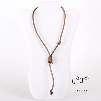VujuWear Hang Man's Noose Men's Leather Necklace