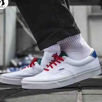 VANS 2018 trendy men and women fashion high quality low top sports shoes F-CSXY white