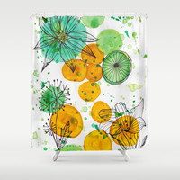 Beautiful Chaos Shower Curtain by Sandra Arduini