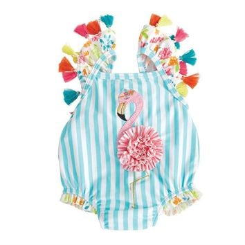 Flamingo Tassel One Piece Swimsuit
