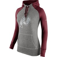 Women's Washington Redskins Nike Charcoal Platinum All Time Performance Hoodie