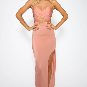 Under Wraps Dress - Peach